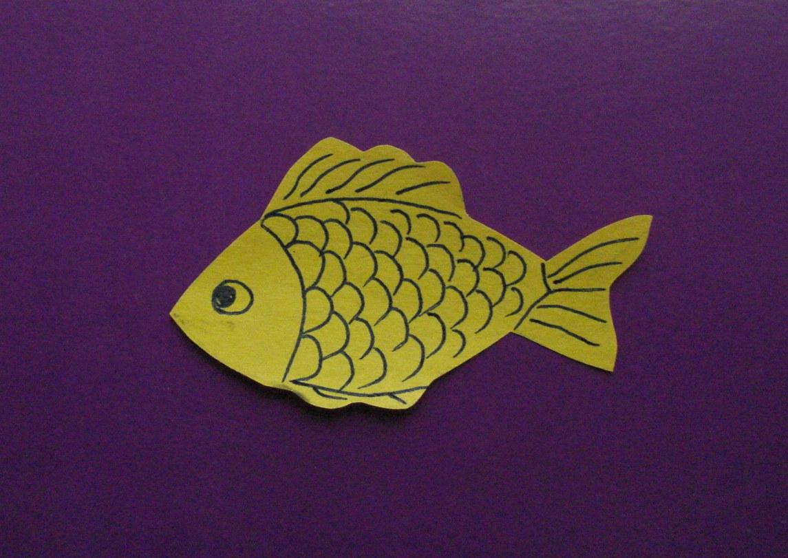 Как сделать поделку рыбки из бумаги